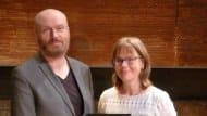 Mark Ravenhill and Hanna Slattne